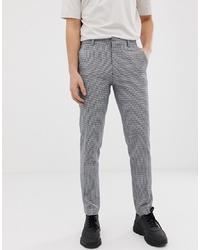 Pantalon de costume en pied-de-poule gris ASOS DESIGN