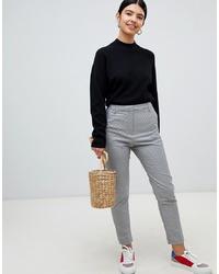 Pantalon de costume en pied-de-poule gris Pimkie