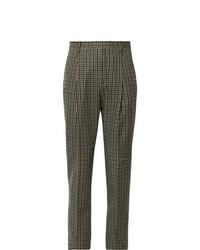 Pantalon de costume en pied-de-poule marron Acne Studios