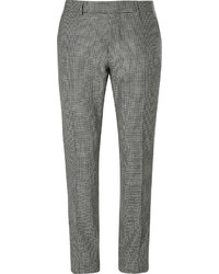 Pantalon de costume en pied-de-poule noir et blanc