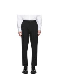 Pantalon de costume en seersucker noir