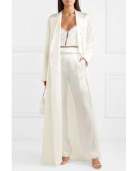 Pantalon de costume en soie blanc Michael Lo Sordo