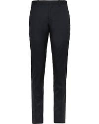 Pantalon de costume en soie bleu marine Burberry
