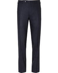 Pantalon de costume en soie bleu marine Canali