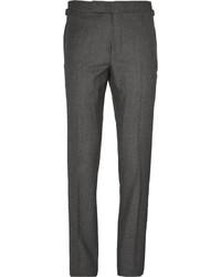 Pantalon de costume en soie gris foncé