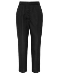 Pantalon de costume en soie noir Dolce & Gabbana