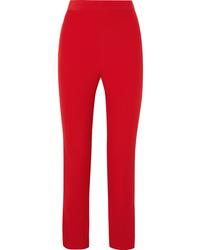 Pantalon de costume en soie rouge Semsem