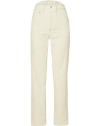 Pantalon de costume en velours côtelé blanc PushBUTTON