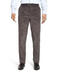 Pantalon de costume en velours côtelé gris foncé