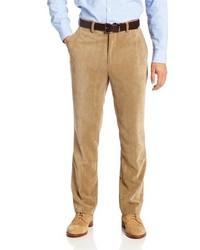 Pantalon de costume en velours côtelé marron clair