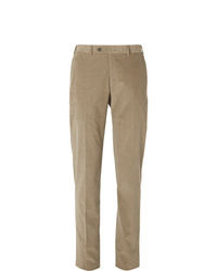 Pantalon de costume en velours côtelé marron clair Canali