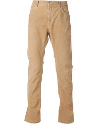 Pantalon de costume en velours côtelé marron clair Closed