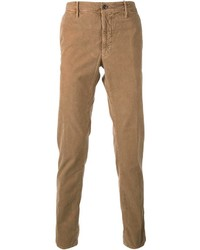 Pantalon de costume en velours côtelé marron clair Incotex