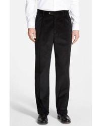 Pantalon de costume en velours côtelé noir