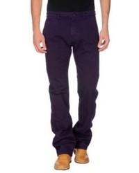 Pantalon de costume en velours côtelé violet