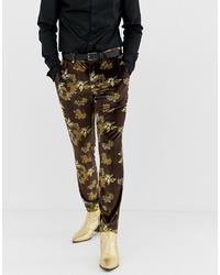 Pantalon de costume en velours marron ASOS DESIGN