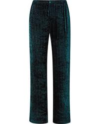 Pantalon de costume en velours matelassé vert foncé F.R.S For Restless Sleepers