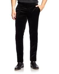 Pantalon de costume en velours noir