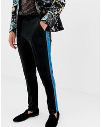 Pantalon de costume en velours noir ASOS DESIGN