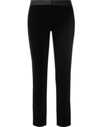Pantalon de costume en velours noir Theory
