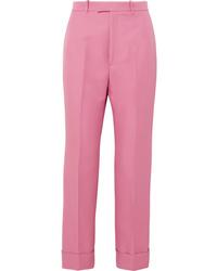 Pantalon de costume fuchsia Gucci
