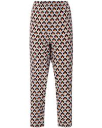 Pantalon de costume imprimé gris Marni