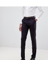 Pantalon de costume imprimé pourpre foncé Farah Smart