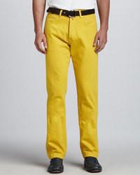 Pantalon de costume jaune