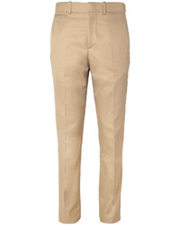 Pantalon de costume marron clair Alexander McQueen