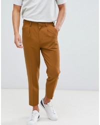 Pantalon de costume marron clair ASOS DESIGN