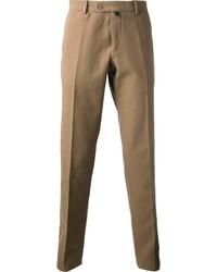 Pantalon de costume marron clair Caruso