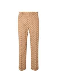 Pantalon de costume marron clair Gucci
