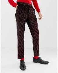 Pantalon de costume marron foncé ASOS DESIGN