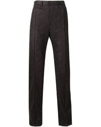Pantalon de costume marron foncé Julien David