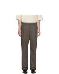 Pantalon de costume marron foncé Lemaire
