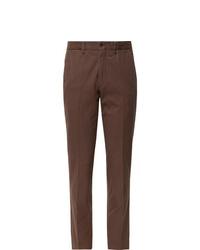 Pantalon de costume marron Rubinacci