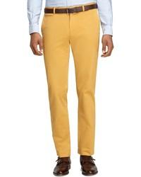 Pantalon de costume moutarde