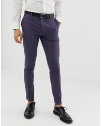 Pantalon de costume pourpre foncé ASOS DESIGN