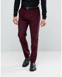 Pantalon de costume pourpre foncé Asos