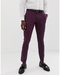 Pantalon de costume pourpre foncé Selected Homme