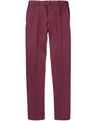 Pantalon de costume pourpre