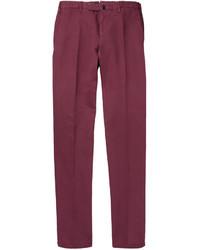Pantalon de costume pourpre Incotex