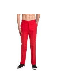 Pantalon de costume rouge