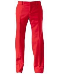 Pantalon de costume rouge Alexander McQueen