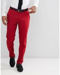 Pantalon de costume rouge ASOS DESIGN