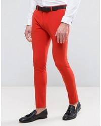 Pantalon de costume rouge Asos