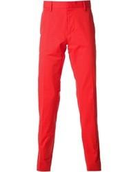 Pantalon de costume rouge DSquared