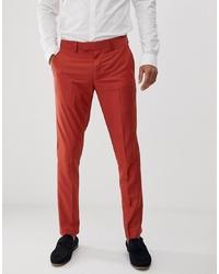 Pantalon de costume rouge Farah Smart