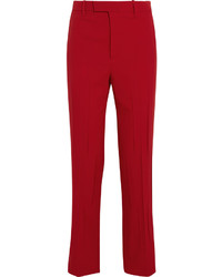 Pantalon de costume rouge Gucci