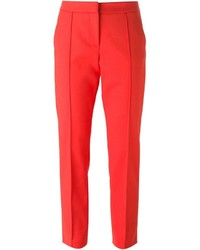 Pantalon de costume rouge MSGM